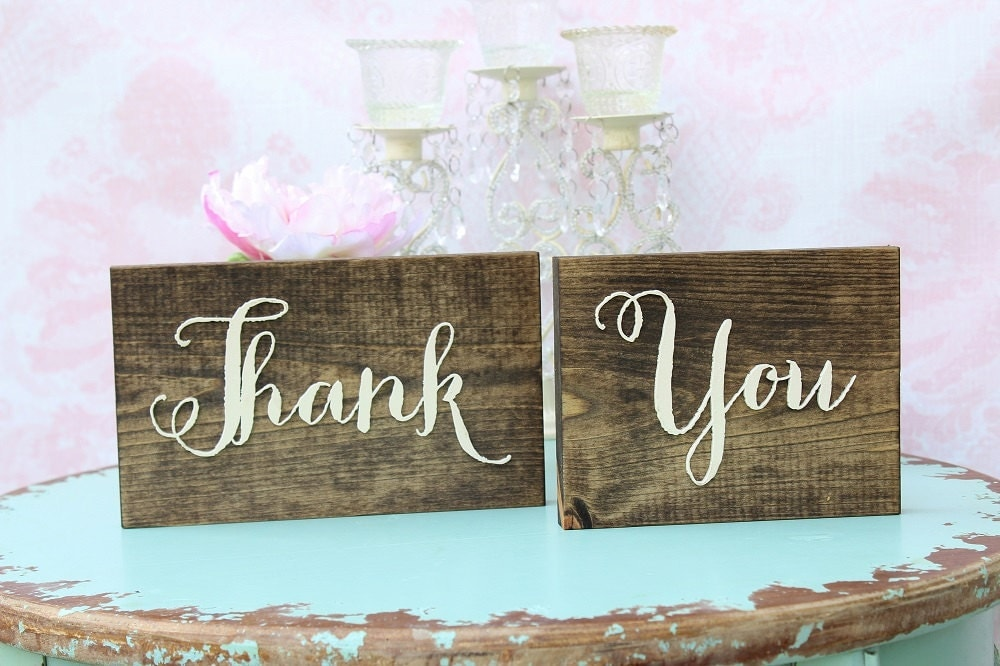 Thank You Sign Rustic Wedding Wood Plaque Table Barn