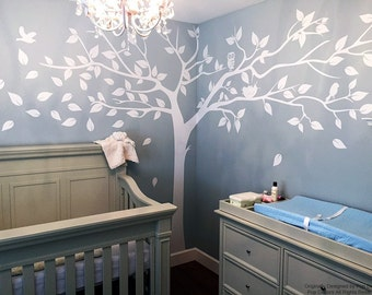 Nursery Wall  Decals Tree Stickers Photo Tree Decal Living Room Decal- Super Big Tree(133inch) -Designed by Pop Decors