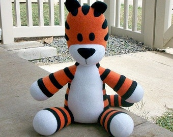 Large Huggable Hobbes Tiger - Made to Order