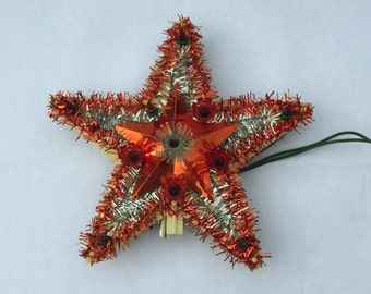 Christmas Tree Topper Red Star Lighted Tree Topper