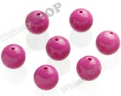 20mm - 100 PACK Watermelon Pink Gumball Beads, Bulk Gumball Beads, Wholesale Gumball Beads, Wholesale Chunky Beads, 20mm Beads, 2mm Hole