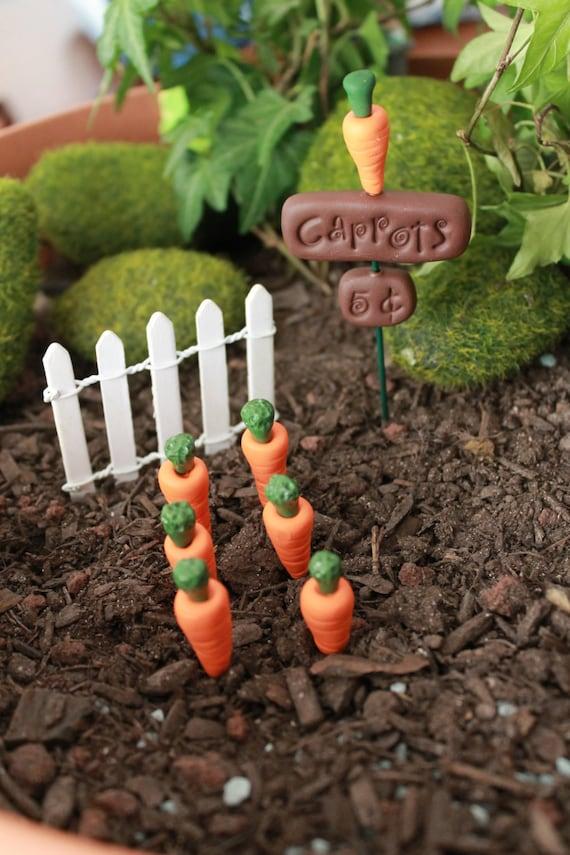 Gnome Garden: Polymer Clay Carrot Garden Terrarium Accessory By GnomeWoods