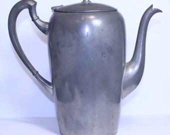 Vintage Pilgrim Pewter Pot, Vintage Pewter Teapot, Vintage Pewter Coffee Pot, Solid Pewter Pot