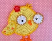 Crochet pattern - chicken coaster by VendulkaM, digital pattern DIY, pdf