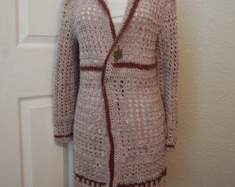 Crochet Coat Acrylic size Medium/Large bust 35/37