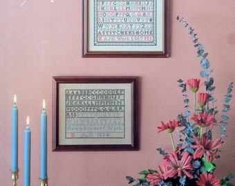Artistic Needle A STITCHER'S Home 1834 Sampler - Counted Cross Stitch Pattern Chart