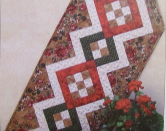 """Atkinson Designs Table Runner pattern called """"Square Meal"""" by Terry Atkinson"""