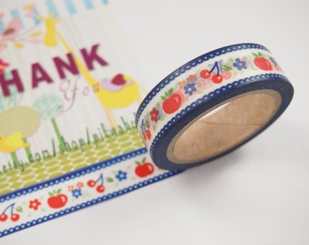 Apple & Cherry Washi Tape (10M)