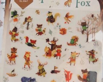 The Little Fox Sticker (1 sheet)