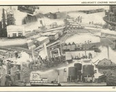 Unique Black and White Collage of Arkansas's Leading Industries Vintage Postcard Industrial, Modern Technology
