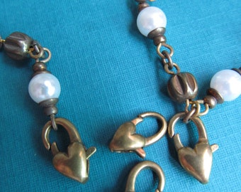 Heart Shaped Lobster Claw Clasp