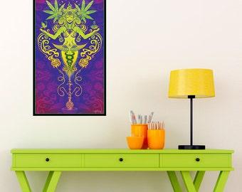 Cannabis Graphic Art  - Sacred Smoke by Cristina McAllister