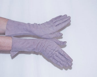 Vintage French Kid Leather Long Gloves