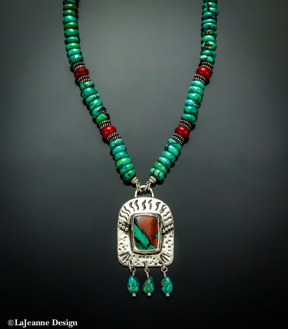 Sonoran Desert - Sonoran Sunset necklace w/Turquoise beads
