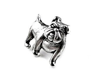 Bulldog Lapel Pin - Tie Tack - Valentine's Gift - Handmade - Gift Box Included
