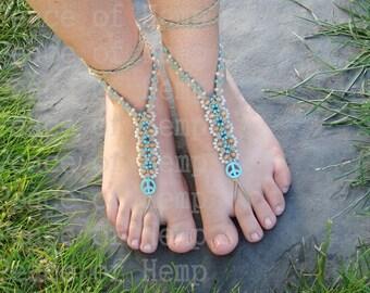 Hippie Hemp Barefoot sandals / toe thongs