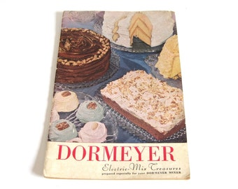 Dormeyer Stand Mixer Instruction Manual Recipe Book Owners Manual Cookbook Model 5020