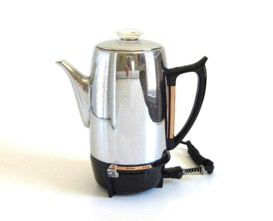 Coffee Maker With Percolator : GE Coffee Percolator General Electric 28P41Coffee Makers 3-10