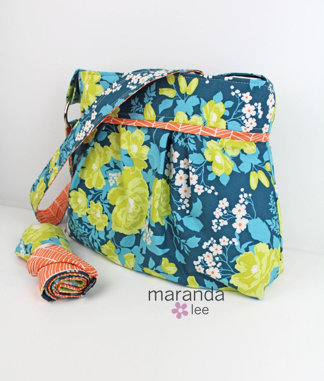 stella diaper bag set with changing pad mat large flroa. Black Bedroom Furniture Sets. Home Design Ideas