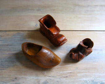 Vintage Handcarved Miniature Shoes Collection, On Sale
