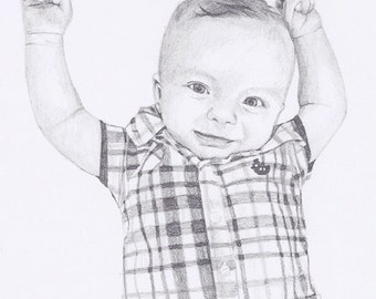 "Custom Portrait 5x7"" - Drawing From Your Photo - Single Subject"
