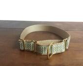 Chevron Dog Collar, Martingale Dog Collar, Gold Collars