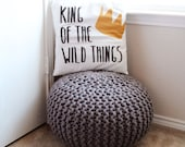 King of the Wild Things Pillow Cover, Nursery Decor, Baby Boy, Where the Wild Things Are