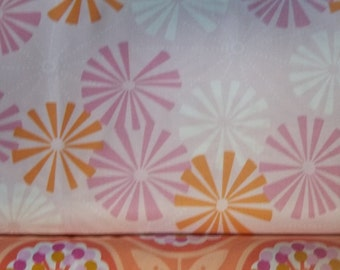 Weekends light pink background by Erin McMorris  for West Minster  Free Spirit Fabrics 1 yard licensed print