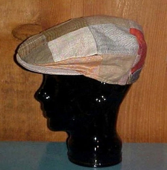 Vintage Patchwork Newsboy Cap Irish Linen Hanna Hats