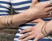 Hammered Sterling Silver Ring | Adjustable Ring | V Ring | Silver V Ring | Minimalist Sterling Silver Ring