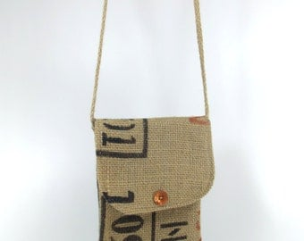 Upcycled coffee sack Hip Bag