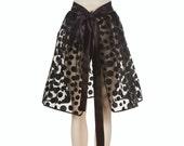 Overskirt - black polka dots (all sizes)