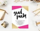 Corners Graduation Party Invitation