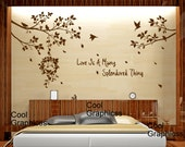 vinyl wall decal wall sticker branch wall decal nursery wall decal children decal girl boy room  -  Beautiful Branches with birds