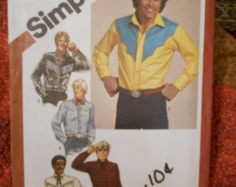 Simplicity 9886 Mens Western shirts size 44