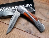Groomsmen Knife, The Magnum Grace - Personalized Groomsmen Gift, Birthday, Best Man, Father's Day, For Him, Custom Knives