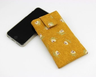 iPhone 6 sleeve, Mobile Phone Cover,fabric iPod cover,handmade iphone case,Snow Rabbits Ocher