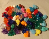 RESERVED FOR PAMELA C. 4 ounces of plastic cat and teddy bear beads
