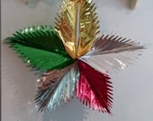 Large Metallic Party Centerpiece Hanging Decoration  Vintage New Old Stock in Original Package