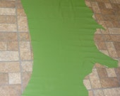 """Leather AVOCADO GREEN Divine 82""""x32"""" 20.25 sq ft Top Grain Cowhide 2-2.5 oz / .8-1mm PeggySueAlso"""