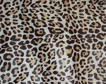"Leather 12""x12"" Almond LARGE Cheetah / Leopard Print Grain NOT hair on Cowhide 2.5 oz / 1 mm PeggySueAlso™ E5000-01 Full hides available"