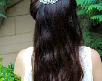 Wedding Hair Chain, Bun Wrap, Wedding Tiara, Bridal Hair Chain, Wedding Hair Wrap, Wedding Halo Crystal Hair Comb, Wedding Hair Comb Vine