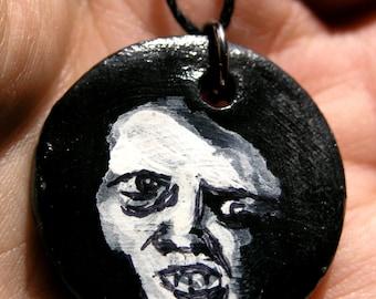 Ceramic Monster Face Pendant