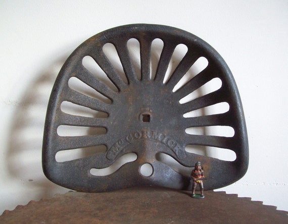 Cast Iron Tractor Seats : Antique cast iron tractor seat mccormick implement