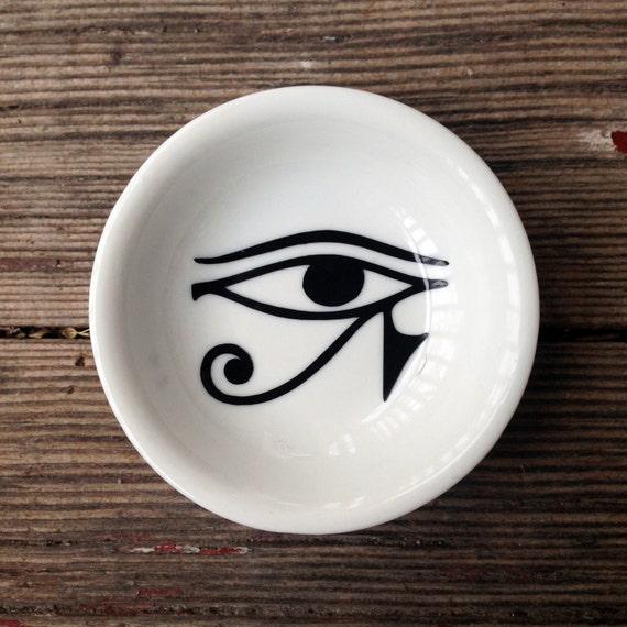 Ring Dish | Eye of Horus | Engagement Gift | Jewelry Dish