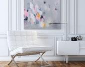 Large Art, Giclee print, Abstract Art, Modern Art, Fine Art Print, Extra Large wall art, Grey Pink, by Duealberi