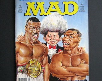 Sept. 1990 Mad Magazine - Back Issue No. 297 - Boxing - Humor - Cartoons - Vintage Mad Magazine - Law School - Sports - Smoking - Satire