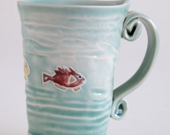 Tropical Fish Mug from Clay Creature Comforts