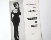 Blaze Starr Burlesque Striptease Show, 1950s Brochure, stripper, collectible, black and white