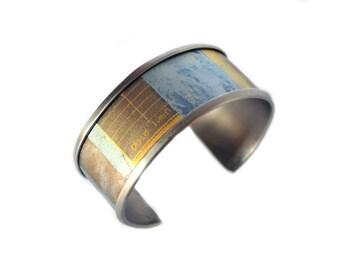 Mars Titanium Anodized Cosmos Cuff Bracelet